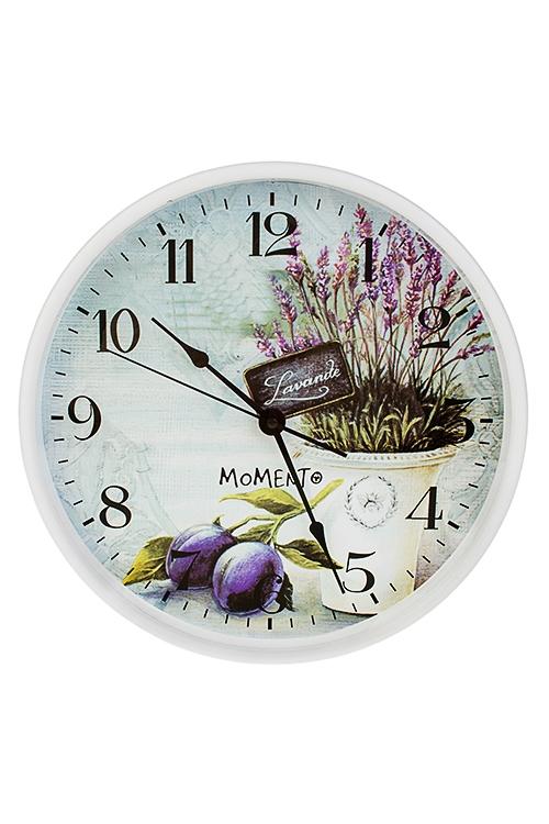 Часы настенные ЛавандаЧасы Настенные<br>Д=30см, пластм., стекло<br>