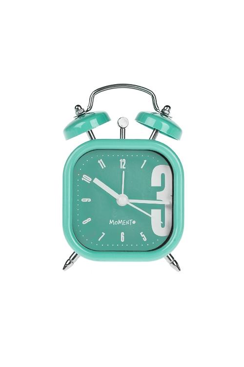 Часы настольные ПастельИнтерьер<br>7.5*11.4см, пластм., с будильником, мятные<br>