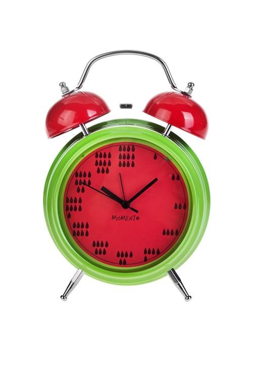 Часы настольные АрбузикИнтерьер<br>15*21см, металл, с будильником, с подсветкой<br>