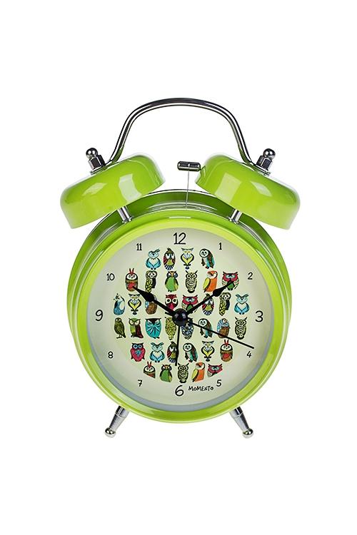Часы настольные Цветные совикиИнтерьер<br>13*18см, металл, с будильником, с подсветкой<br>