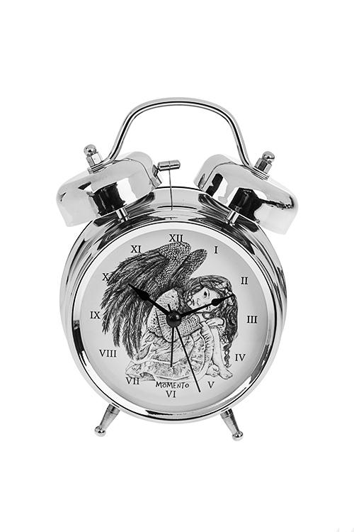 Часы настольные АнгелИнтерьер<br>13*18см, металл, с будильником, с подсветкой<br>