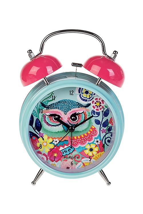 Часы настольные Волшебная соваИнтерьер<br>15*21см, металл, с будильником, с подсветкой<br>