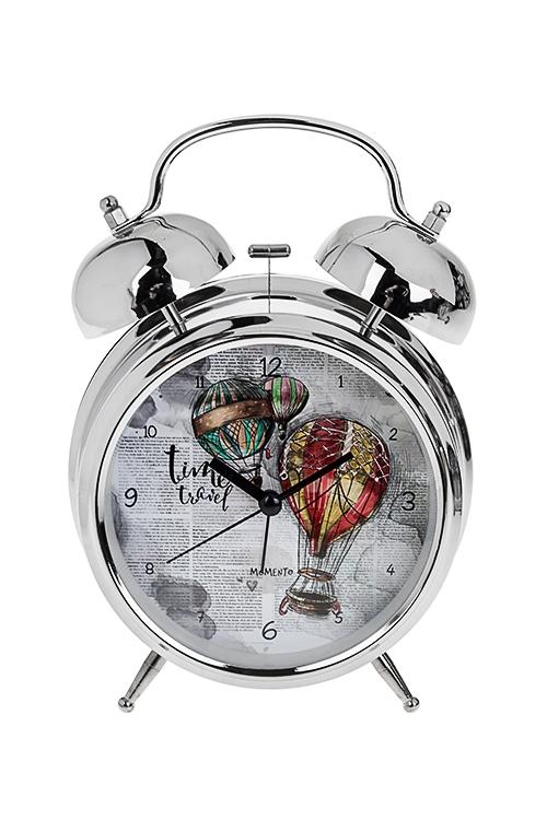 Часы настольные Воздушный шарИнтерьер<br>15*21см, металл, с будильником, с подсветкой<br>