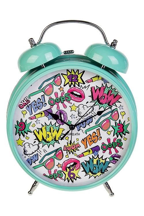 Часы настольные Поп-АртИнтерьер<br>23.5*29см, металл, с будильником<br>