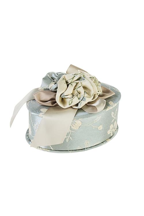 Шкатулка для ювелирных украшений Нежные розыШкатулки для украшений<br>15*10*6см, текстиль, крем.-голубая<br>