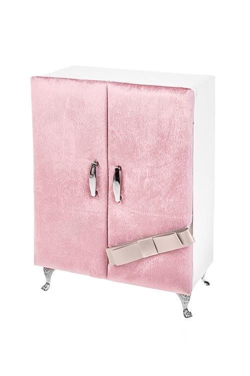 Шкатулка для ювелирных украшений БудуарШкатулки и наборы по уходу<br>17*9*23.5см, искусств. кожа, текстиль, розово-крем.<br>