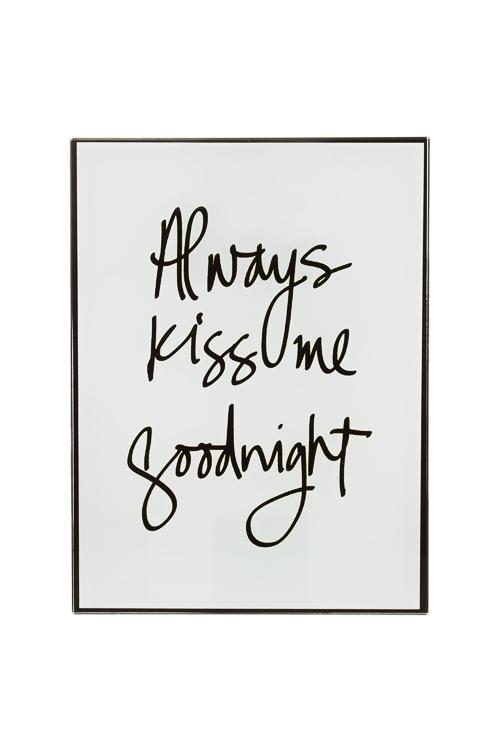 Репродукция Всегда целуй меня на ночьИнтерьер<br>15*20см, стекло<br>
