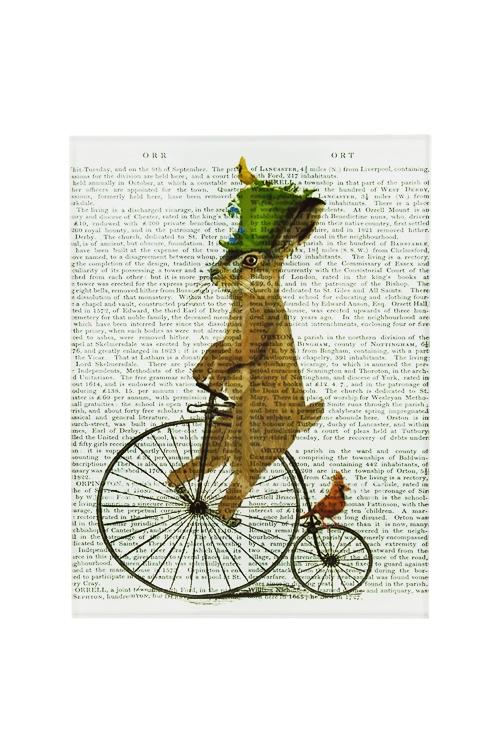 Репродукция Ожившие книги - КроликИнтерьер<br>15*20см, стекло<br>