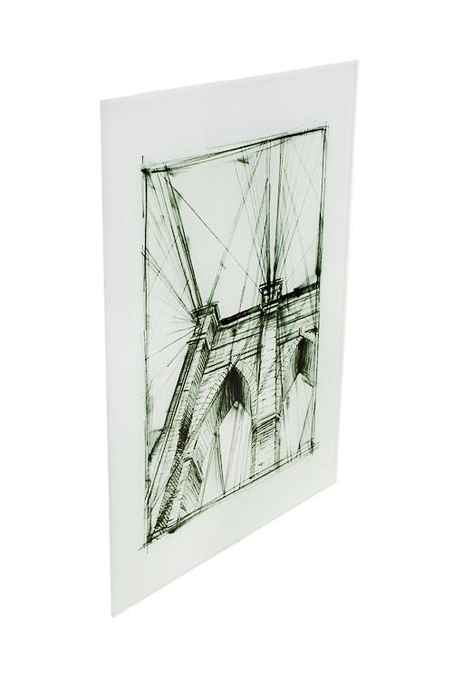 Репродукция Графика - Бруклинский мостИнтерьер<br>30*40см, стекло<br>