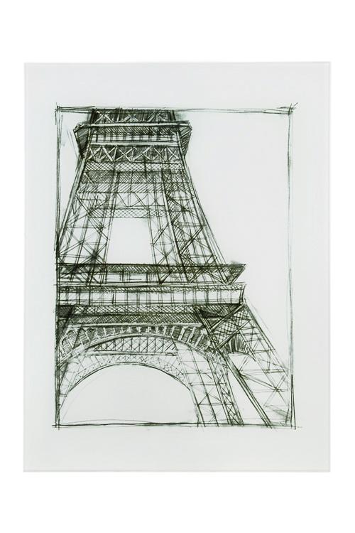 Репродукция Графика - Эйфелева башняИнтерьер<br>30*40см, стекло<br>