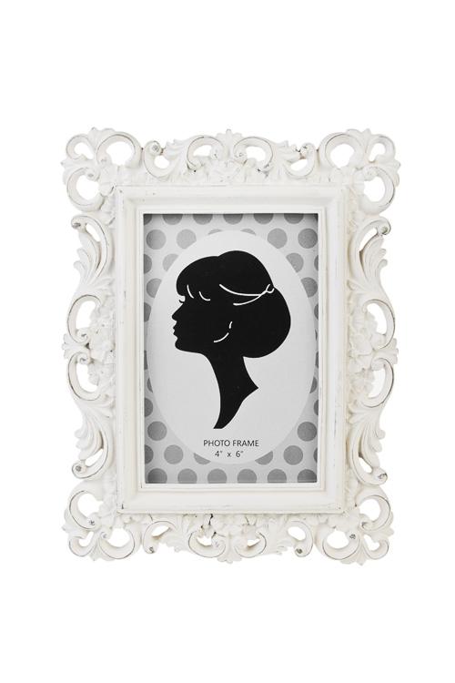 Рамка для фото ПринцессаСвадебные фоторамки<br>18*22.5см, фото 10*15см, полирезин, стекло, крем.<br>