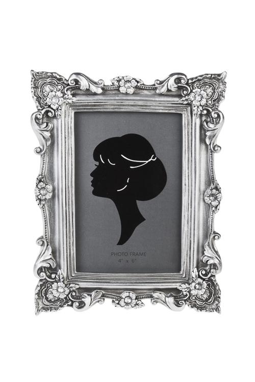 Рамка для фото ПринцессаРамки для фотографий<br>21*16.5см, фото 10*15см, полирезин, стекло, серебр.<br>