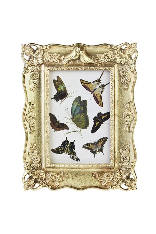 Рамка для фото Имперский шикРамки для фотографий<br>17*22см, фото 10*15см, полирезин, стекло, золот.<br>