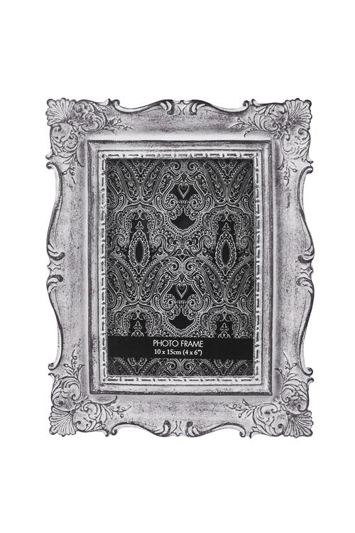 Рамка для фото Дворцовый стильИнтерьер<br>17*22см, фото 10*15см, полирезин, стекло, серебр.<br>