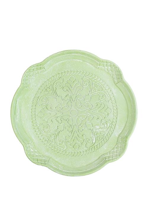 Блюдо декоративное ПастельТарелки и пиалы<br>Д=27см, МДФ, зеленое<br>