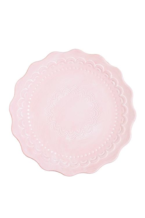 Блюдо декоративное ПастельТарелки и пиалы<br>Д=30см, МДФ, розовое<br>