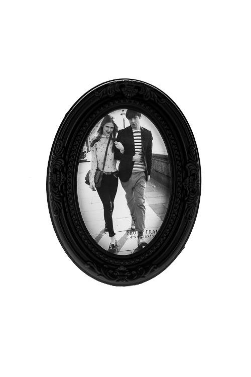 Рамка для фото КлассикаИнтерьер<br>15*19см, фото 10*15см, пластм., черная<br>