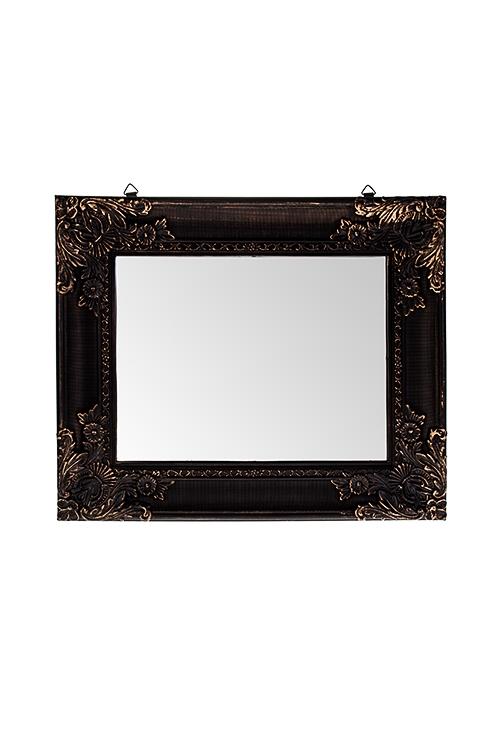Зеркало настенное КлассикаИнтерьер<br>28*34см, пластм., стекло, черно-золотое<br>