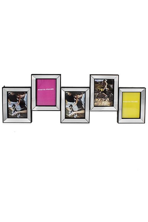 Рамка для 5-ти фото МечтаИнтерьер<br>31*91см, фото 13*18см, пластм., стекло<br>