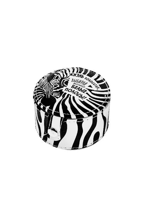 Шкатулка для ювелирных украшений ЗебраШкатулки и наборы по уходу<br>7.5*7*4см, искусств. кожа, полиэстер<br>