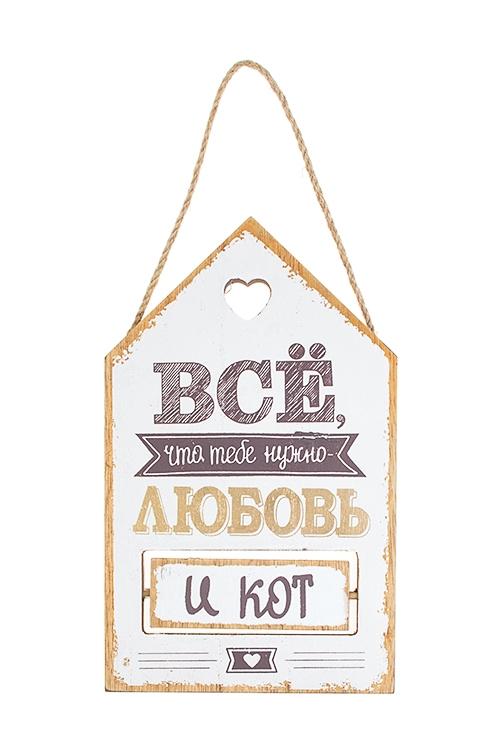 Табличка декоративная Все, что тебе нужноИнтерьер<br>13*22см, МДФ, подвесная<br>