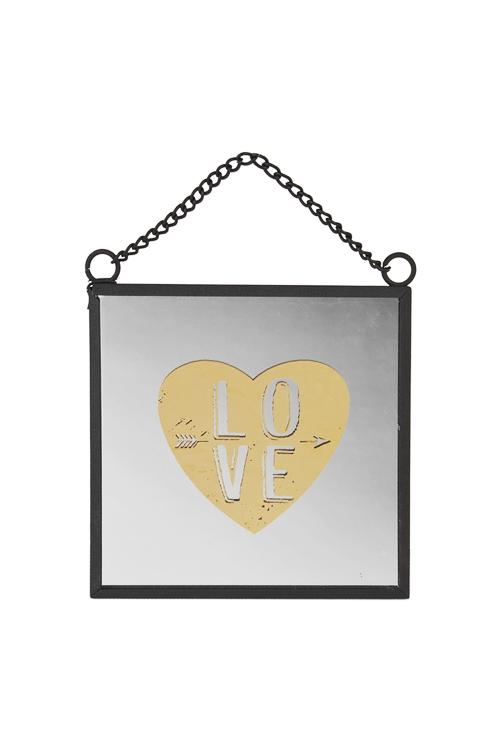 Украшение для интерьера настенное Любовь-зеркалоИнтерьер<br>10*10см, стекло, металл<br>