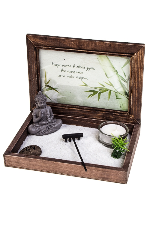 Украшение для интерьера Японский сад - ПокойСувениры и упаковка<br>18*16см (МДФ, полирезин, аксесс.), коричн.<br>