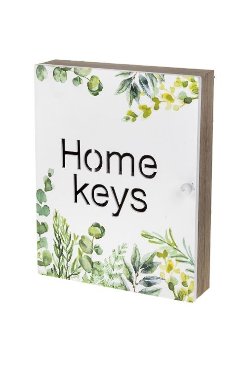 Ключница Нежность листвы ключница декоративная настенная 5 крючков часы 20 5 25см мдф лак коричневая упаковка