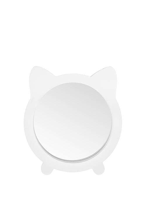 Зеркало настольное КотикШкатулки и наборы по уходу<br>15*2*16.5см, МДФ, стекло, белое<br>