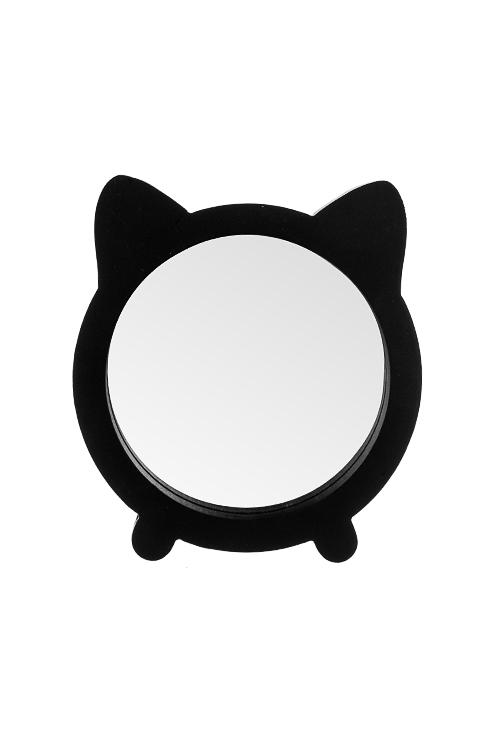 Зеркало настольное КотикШкатулки и наборы по уходу<br>15*2*16.5см, МДФ, стекло, черное<br>