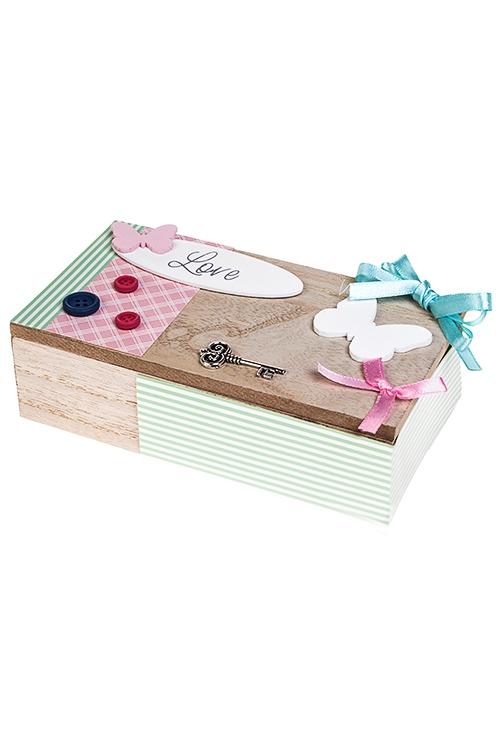 Набор для творчества Сделай самШкатулки для украшений<br>(шкатулка 16.5*9*5см, аксессуары), МДФ, бумага<br>