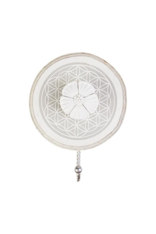Вешалка декоративная Прованский цветокВешалки<br>12*5*15см, МДФ, металл, крем.-белая<br>