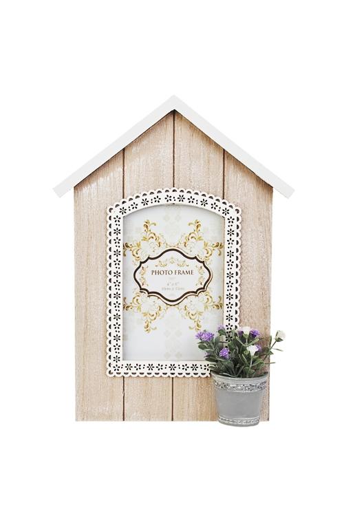 Рамка для фото Прекрасный дом цветочникаИнтерьер<br>21*28см, фото 10*15см, МДФ, стекло<br>