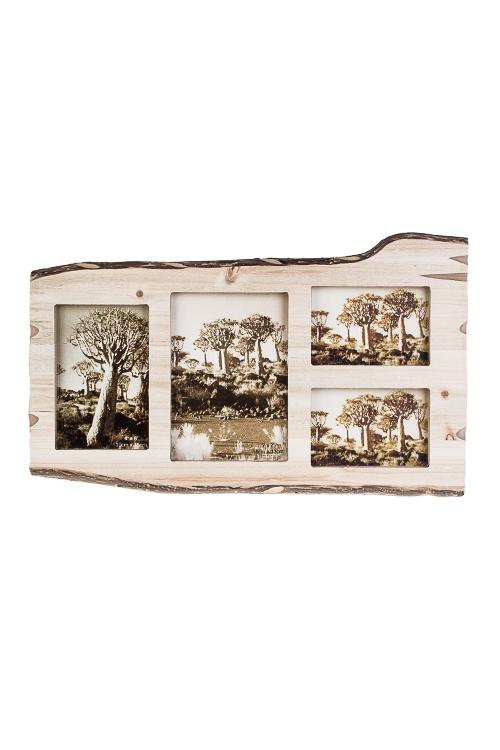 Рамка для 4-х фото ЭкоИнтерьер<br>43*26см, фото 10*15см, 13*18см, 13*9см, МДФ,стекло, коричн.<br>