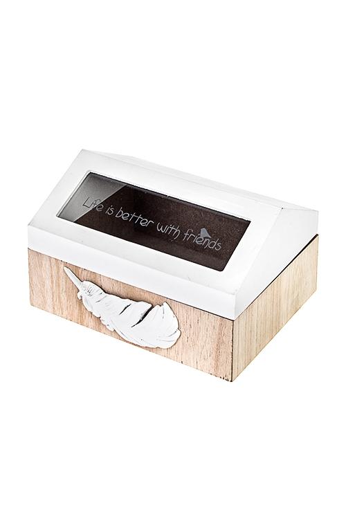 Шкатулка НевесомостьШкатулки для писем<br>18*14.5*11см, МДФ, стекло<br>