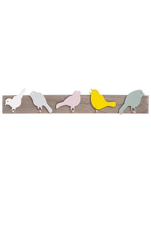 Вешалка декоративная Стая птицИнтерьер<br>60*3.5*10см, МДФ, с 5-ю крючками<br>