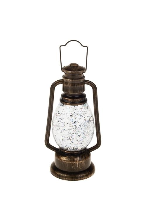 Украшение для интерьера светящ Волшебный фонарьСветящиеся украшения<br>Выс=12см, акрил, коричн., на батар., с жидкостью<br>