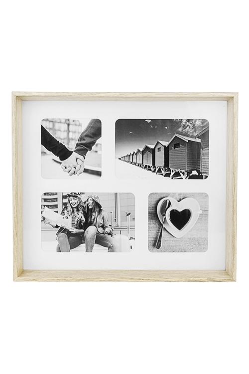 Рамка для 4-х фото Домашний уютДеревянные фоторамки<br>33*28см, фото 10*10см, 10*15см, стекло, МДФ<br>