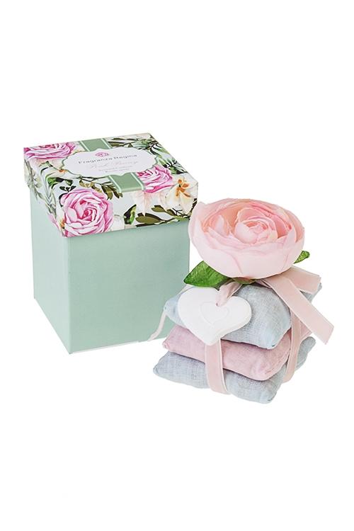 Саше Подушечки-пионНаборы для ванной<br>7*9см (розовый пион)<br>