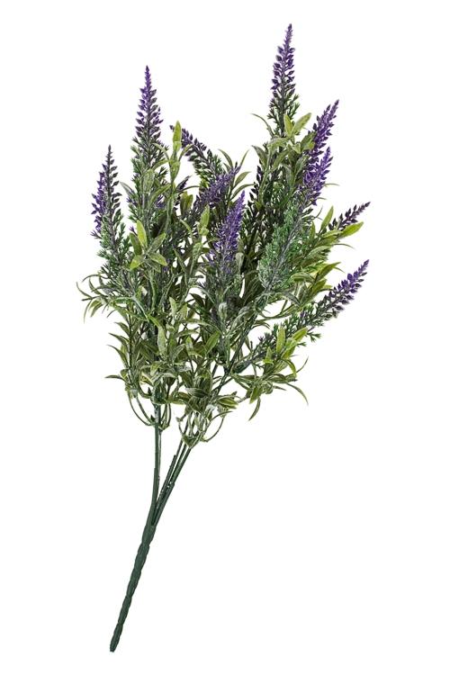 Ветка декоративная ЛавандаДекоративные цветы<br>Выс=33см, пласт.<br>