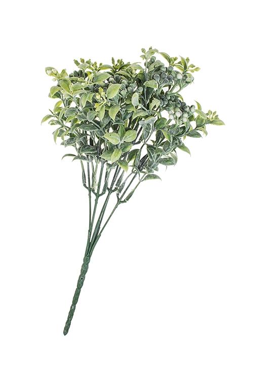 Ветка декоративная БоярышникДекоративные цветы<br>Выс=25см, пласт.<br>