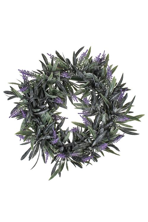 Украшение декоративное Венок с лавандойДекоративные цветы<br>Д=25см, пласт.<br>