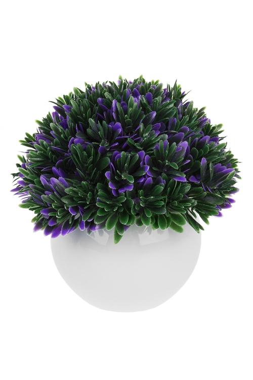 Композиция декоративная СтильДекоративные цветы<br>Выс=12см, пласт., керам., в горшке<br>