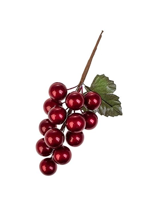Украшение для интерьера Гроздь ягодокНовогодние ветки и венки<br>Выс=14см, пенопласт, металл, красное<br>