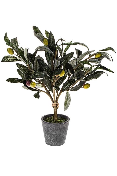 Композиция декоративная Оливковое деревоИнтерьер<br>Выс=34см, текстиль, бумага, пластм., пенопласт, желто-зеленая<br>
