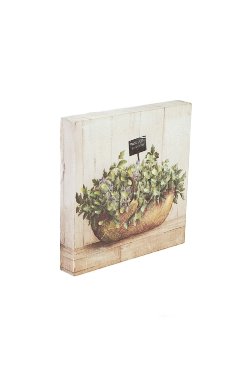 """Репродукция """"Садовые цветы в корзине"""" от Красный куб"""