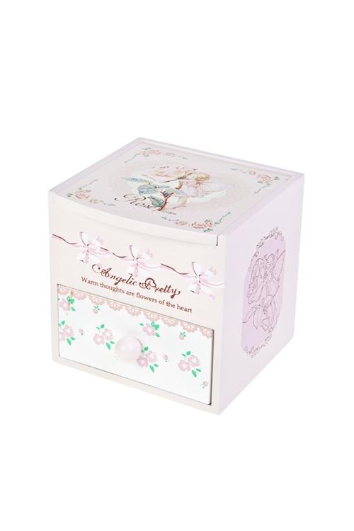 Шкатулка для ювелирных украшений Фея розыШкатулки для украшений<br>10*11*11см, МДФ, 2 отдел., розовая<br>