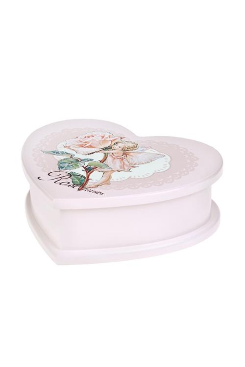 Шкатулка для ювелирных украшений Фея розыШкатулки и наборы по уходу<br>20*16*7см, МДФ, 3 отдел., розовая<br>