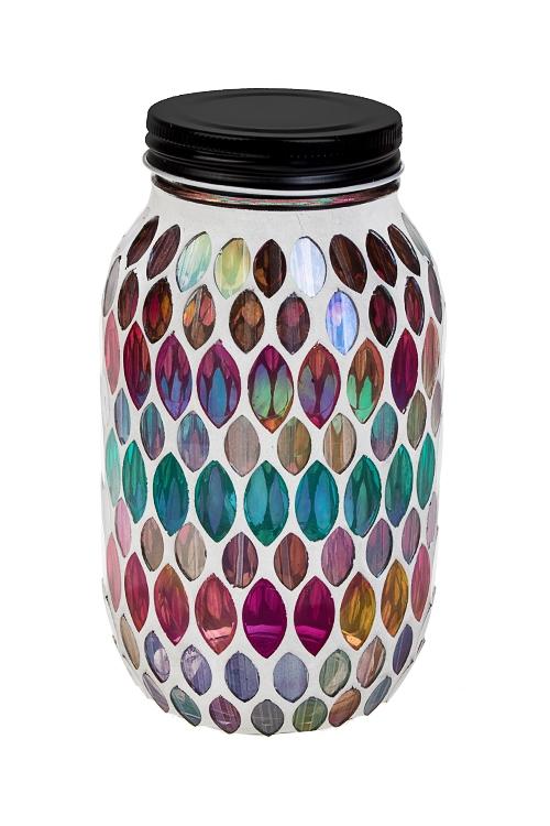 Украшение для интерьера светящееся МозаикаИнтерьер<br>17*10см, стекло, пластм., металл, разноцветн.<br>