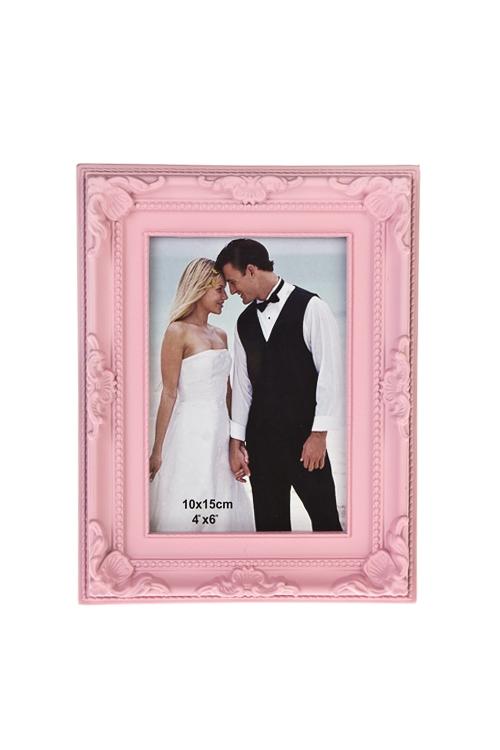 Рамка для фото Ты и яИнтерьер<br>15*20см, фото 10*15см, пласт., св.-розовая<br>
